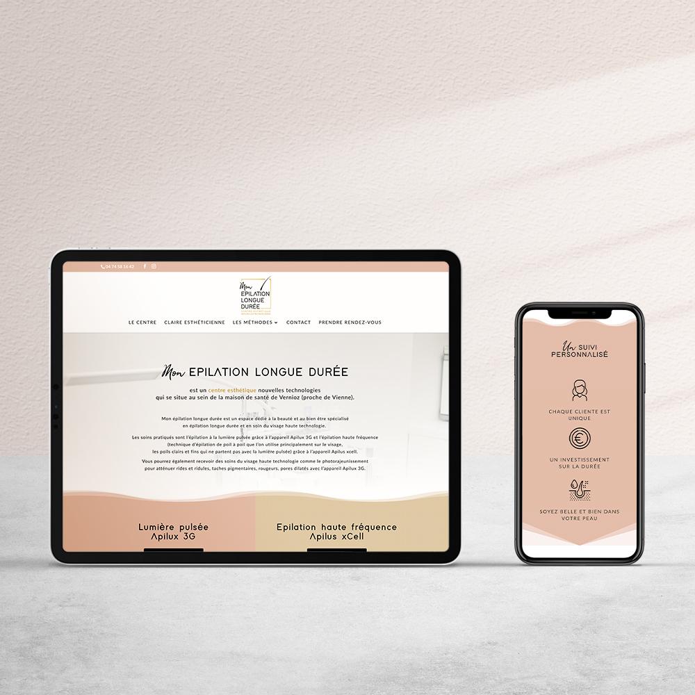 réalisation site web vitrine institut épilation